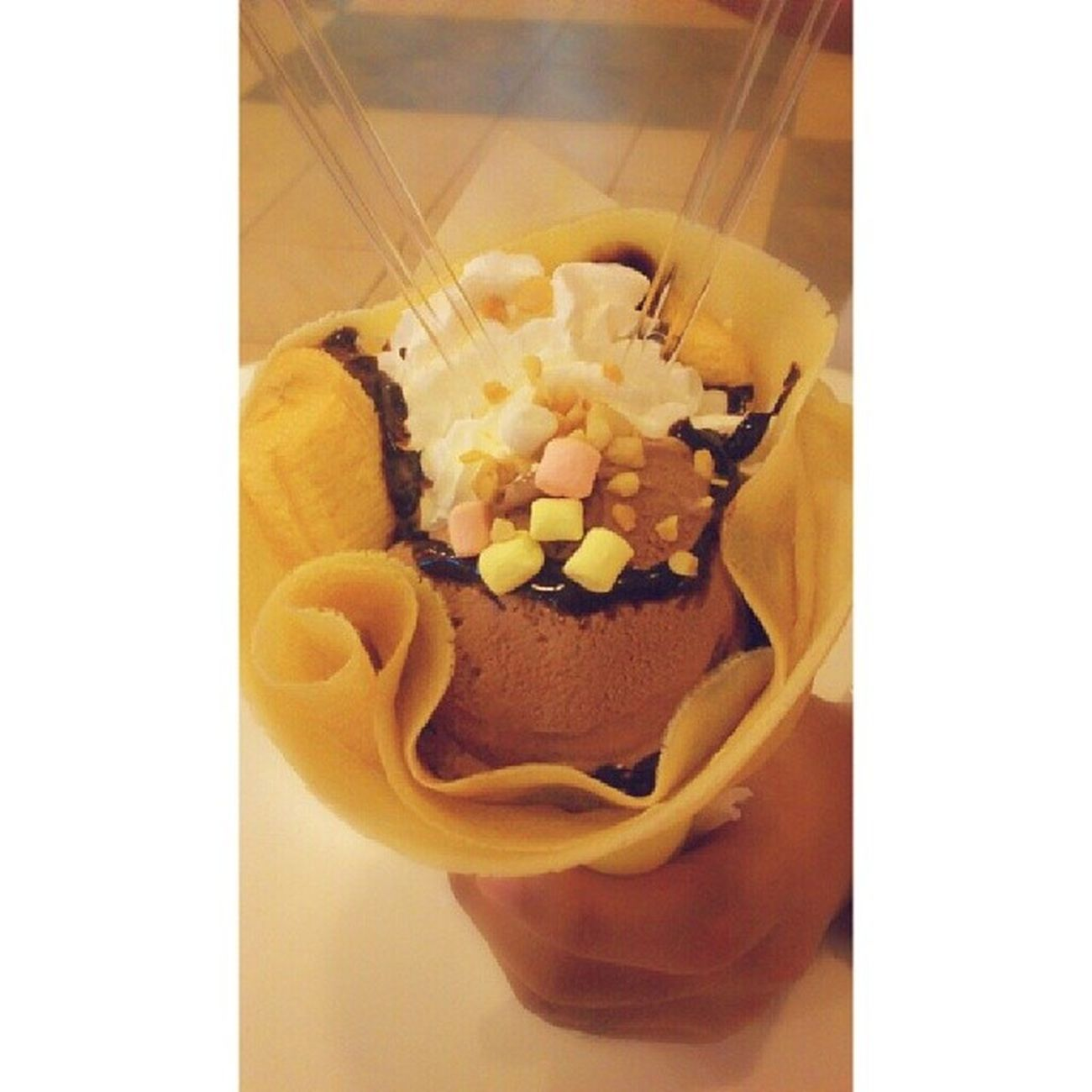 Banana Rocky Road Crepe. This is what i'm talking about. ♥ @JAVAgustin