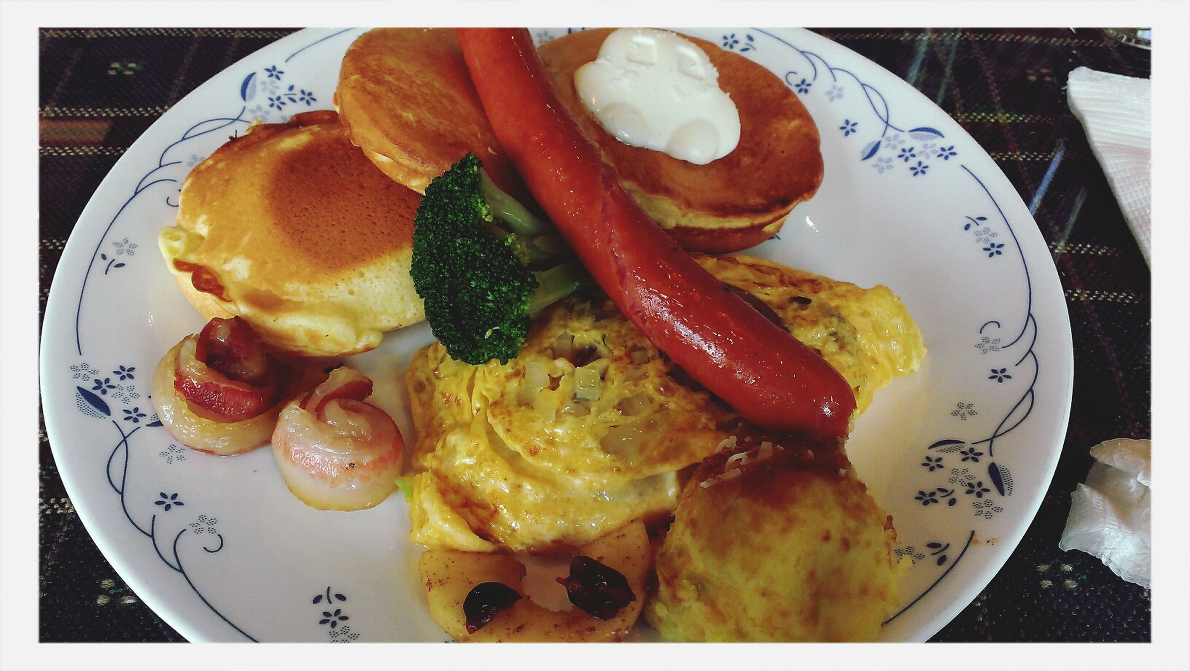 Tea Or Coffee Brunch Sausages Yummy