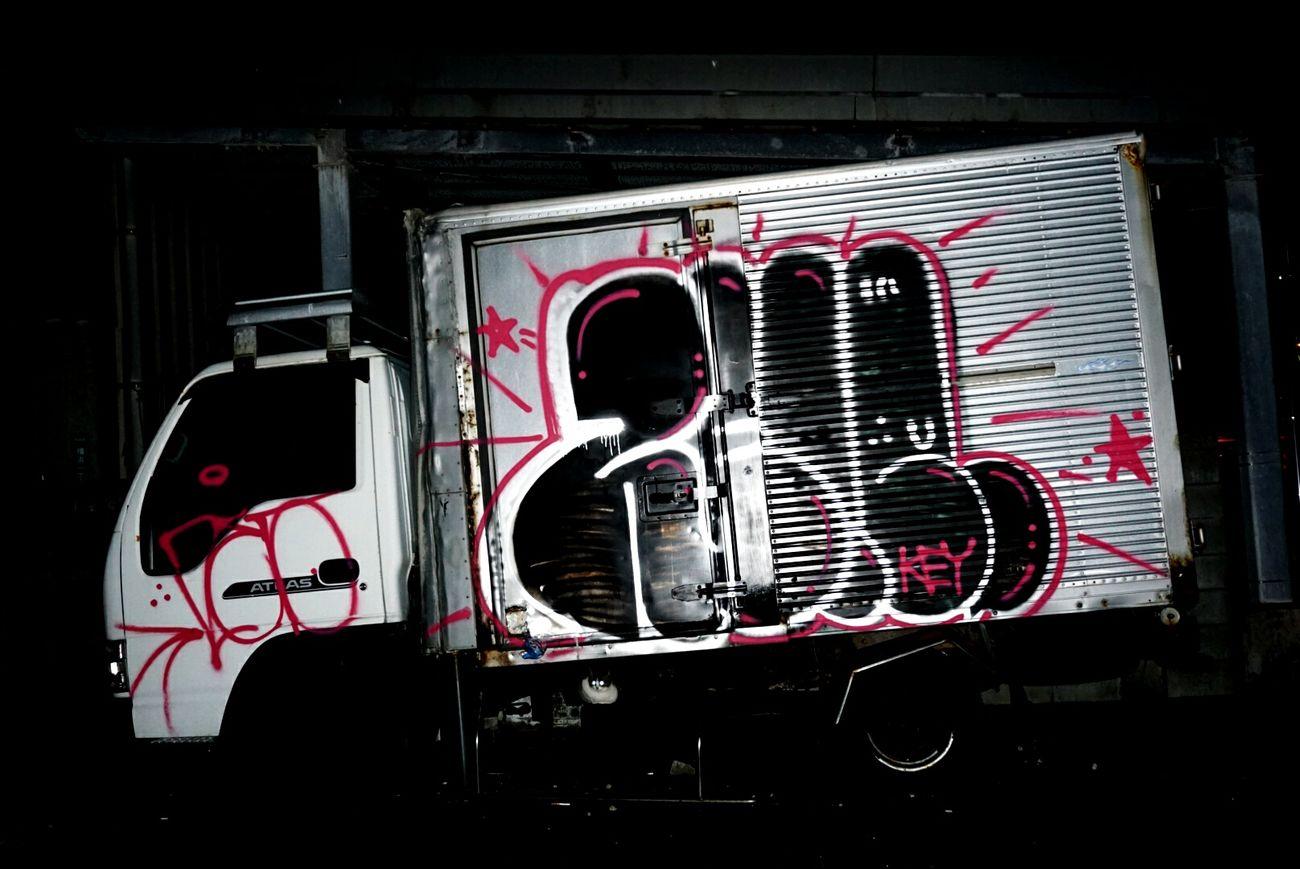Fukuoka,Japan Truck Graffiti Graffiti Art Graffitiart Graffitis Graffitiphotographer Graffiti Collection Nightphotography Nightshot