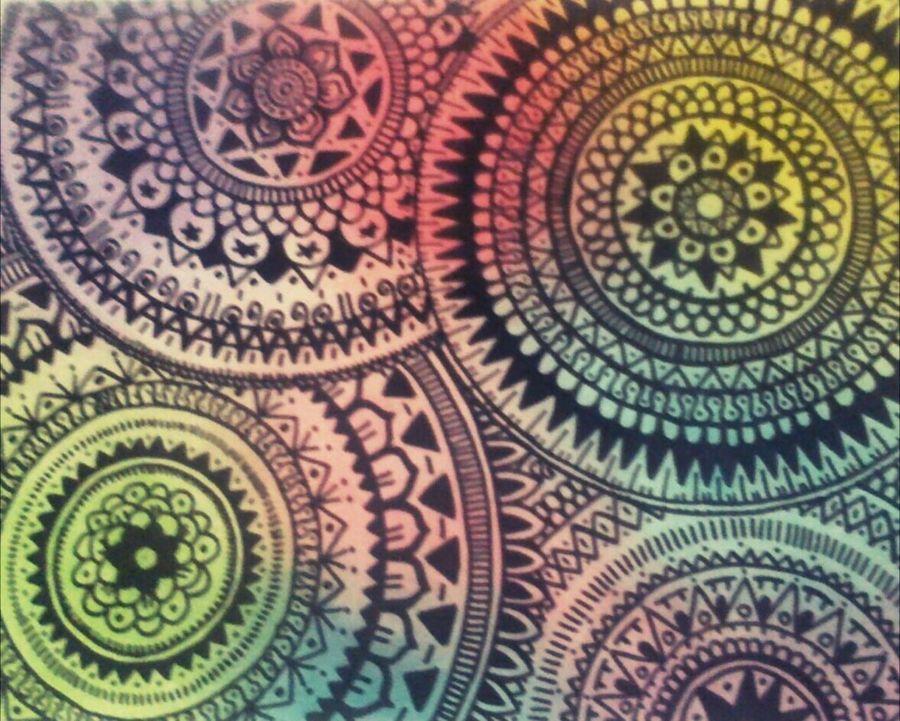 Drawing. Colors. ArtWork Mandalas Creativity Black Vert Yellow Purple Blue Pink Red Cosas Mias Cosasquemegustan Cosasquenoshacensentirbien Decoration Decorated Art Deco Art Deco Style Déco Mis Dibujos Disfruto pintar. Disfrutando De La Vida Gusto Por Pintar