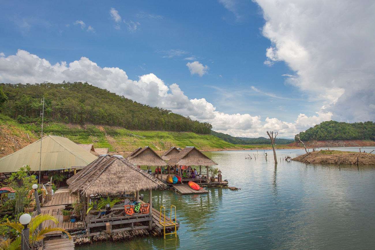 Mae Ngat Dam, Chiang Mai, Thailand Architecture Blue Cloud - Sky Dam Day Floating Floating On Water House Lake Landscape Landscape_Collection Mae Ngat Mountain Nature Outdoors Rafting Scenics Sky Tranquility Travel Travel Destinations Tree Vacations Village Water