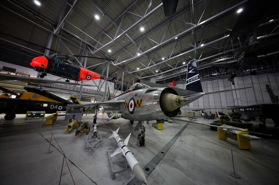 Duxford Imperial War Museum Aerospace Industry Air Force Air Vehicle Airplane Airplane Hangar Cocncorde Commercial Airplane Day DUXFORD AIR MUSEUM Duxford Imperial War Museum Indoors  Military No People Stealth Technology Transportation