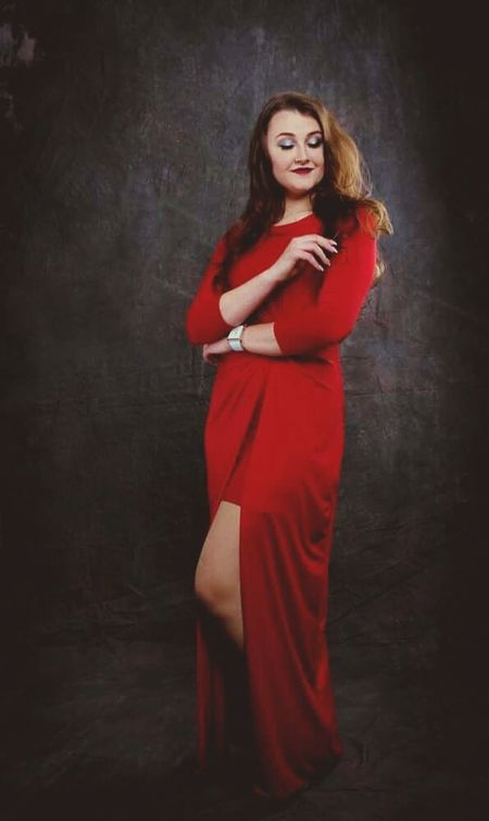 Red Only Women Long Hair Studio Shot One Person People Beauty One Young Woman Only Indoors  Portrait Beautiful Woman One Woman Only