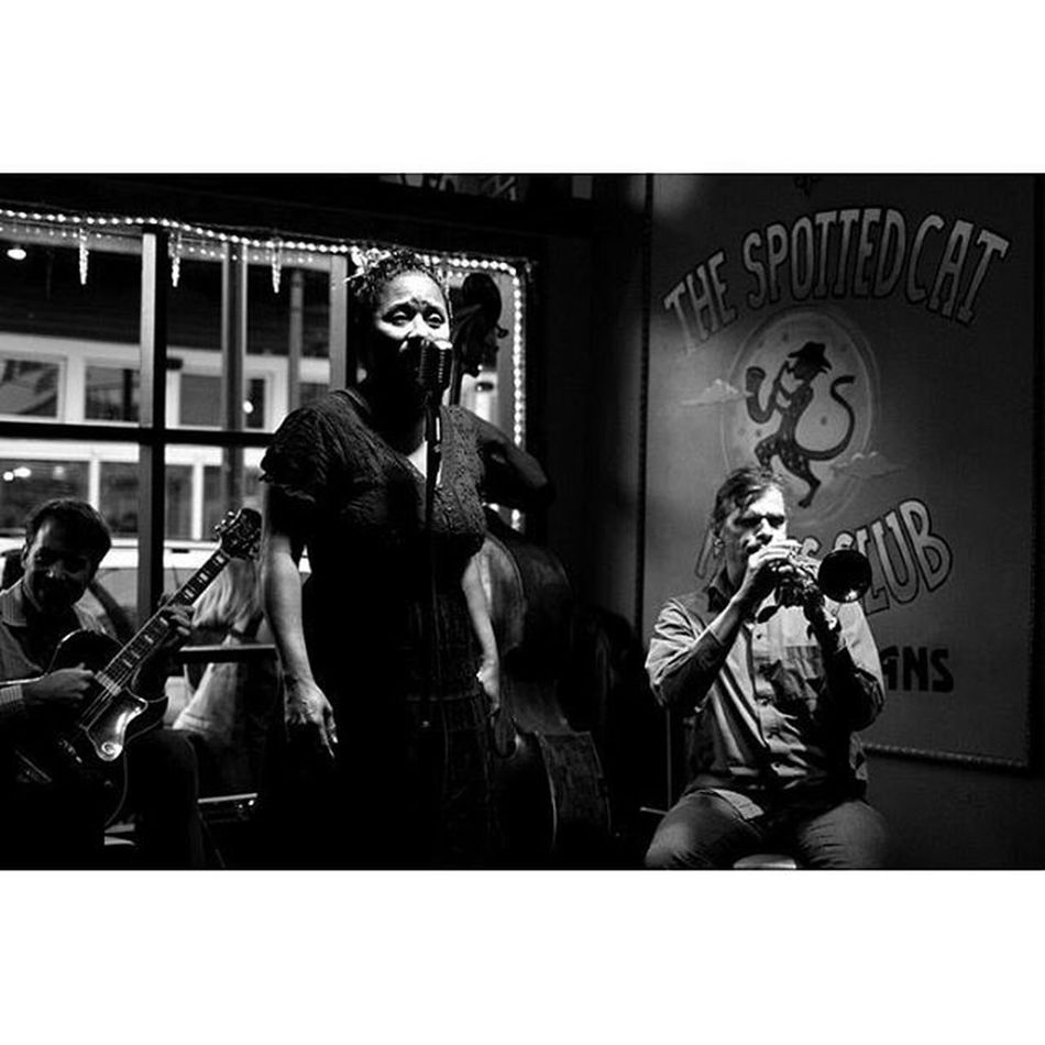 Band at Thespottedcat Neworleans NOLA Louisiana jazz music frenchmenstreet streetportrait streetphotography blackandwhite bnw monochrome travel yearoftravel 35mm candid canon photooftheday