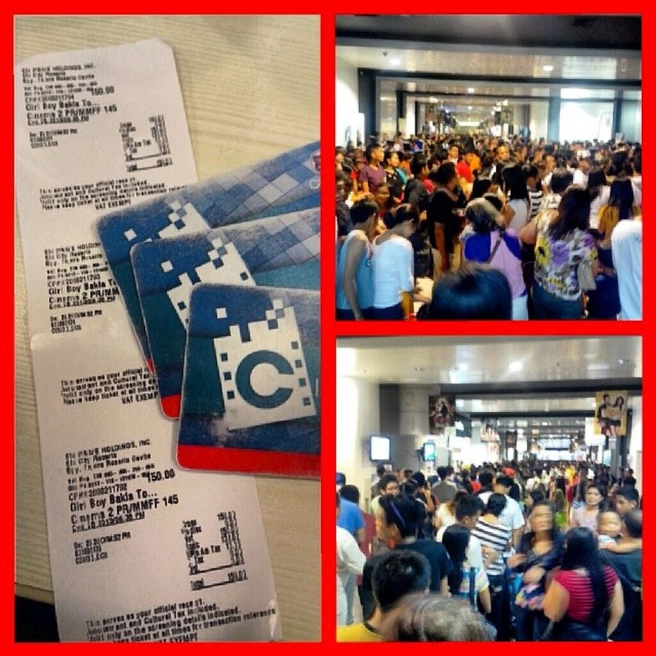 Grabe ang pila kahapon sa SMR CINEMA2,,waiting ng 3hours.. MMFF Dec25 GBBT Lastshowingkame9 :00pm christmasday:))