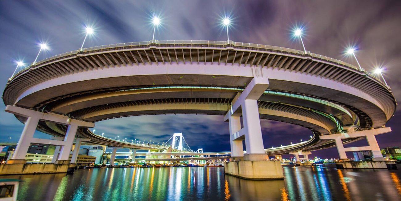 東京 レインボーブリッジ 夜景 Tokyo Rainbow Bridge Night View Bridge
