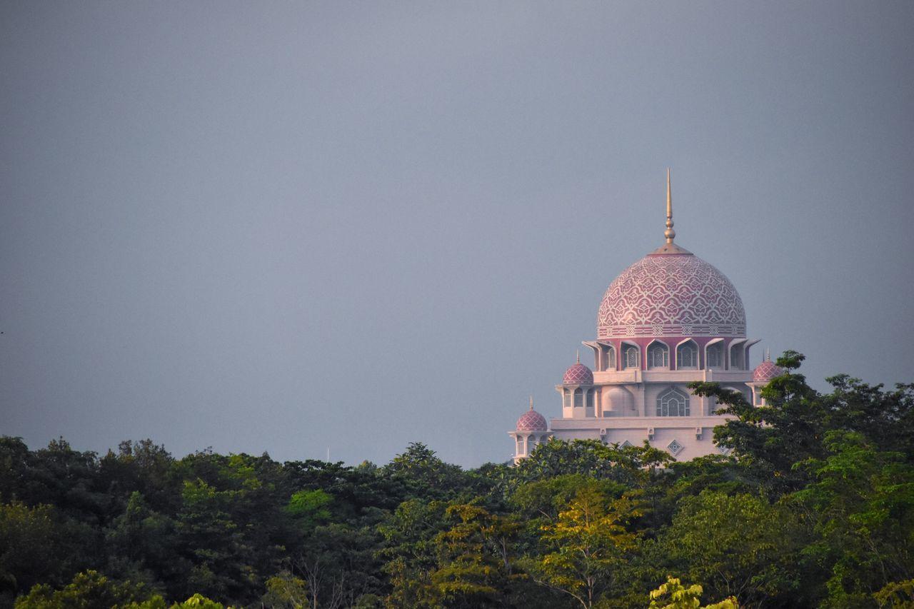 Dome Architecture Built Structure Religion Place Of Worship Building Exterior Mosque Masjid Putrajaya Design Pattern Putrajaya