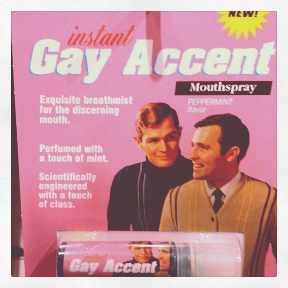 Buy yours today...The Instant Gay Accent Mouthspray!! Gay Mouthspray Seriously Random TheyActuallySellThisInShops
