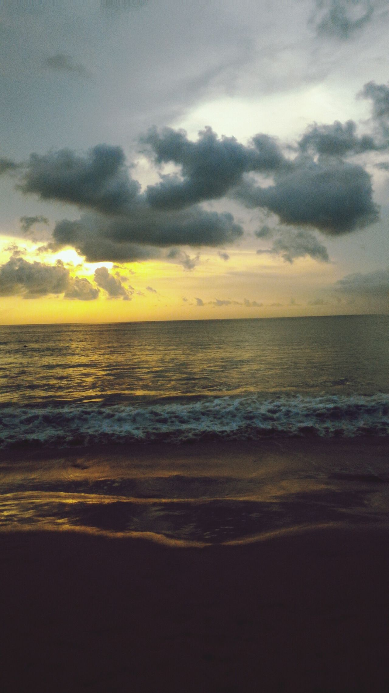 Sunset Sea Sunset Beach Horizon Over Water Cloud - Sky Dramatic Sky Sand Beauty In Nature Sky Scenics Nature Outdoors Wave No People Water Day Leisure Activity Lifestyles Holiday Trip Bali Adventure Sky And Clouds Beach On Sunset Sunset Bali, Indonesia