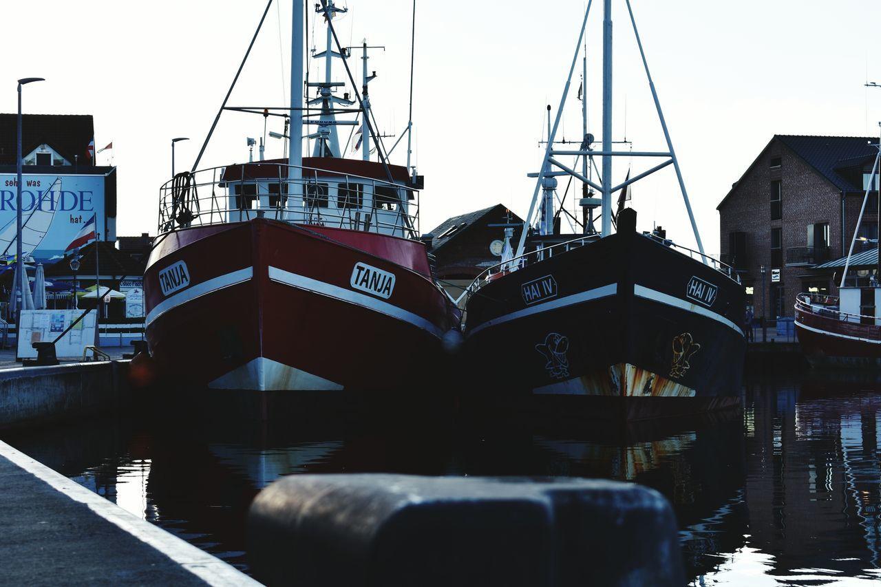 Heiligenhafen Germany Eastsea Old Ships Water Reflections Refletction