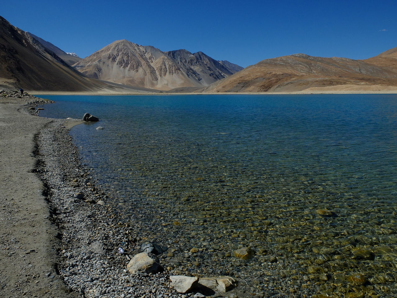 Beauty In Nature Blue Clear Sky Day Jammu And Kashmir Landscape Leh Ladakh Mountain Nature No People Outdoors Pangong Lake Pangong Tso Scenics Sky Tranquil Scene Tranquility
