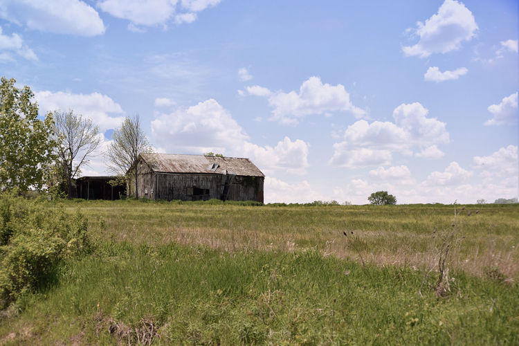 Architecture Barn Beauty In Nature Built Structure Cloud Cloud - Sky Day Delapidated Field Firelands Grass Grassy Green Color Growth Landscape Nature No People Ohio Outdoors Plant Rural Scene Scenics Sky Tranquil Scene Tranquility