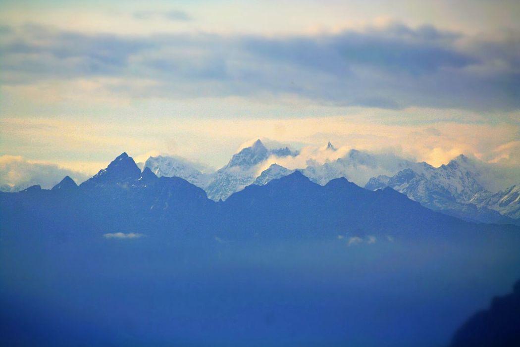 Magnificent Himalayas... From the Dochula Pass, Bhutan Himalayas Bhutan DochulaPass Mountains The Great Himalayas The Great Outdoors The Great Outdoors - 2015 EyeEm Awards