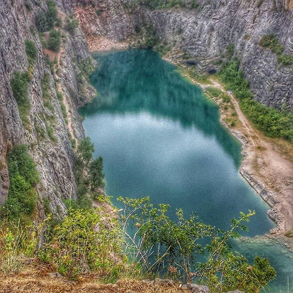 Lom Velka Amerika Czechrepublic Lake Cliff 80metershigh