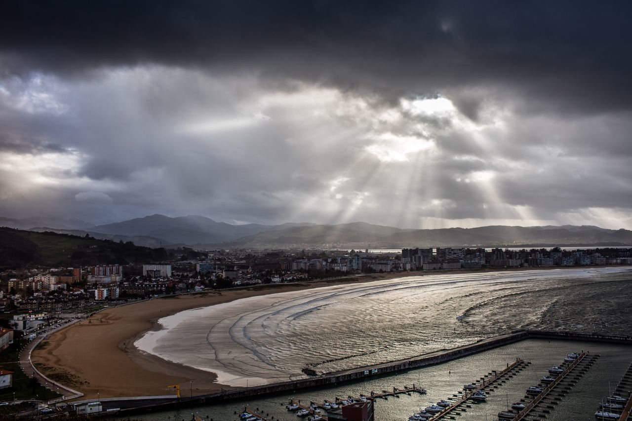 Showcase March Beach Playa Laredo Cantabria Spain Clouds Landscape Storm Bad Weather Surf Waves Sunset Sunrays Landscapes With WhiteWall The Great Outdoors With Adobe The Great Outdoors - 2016 EyeEm Awards Flying High