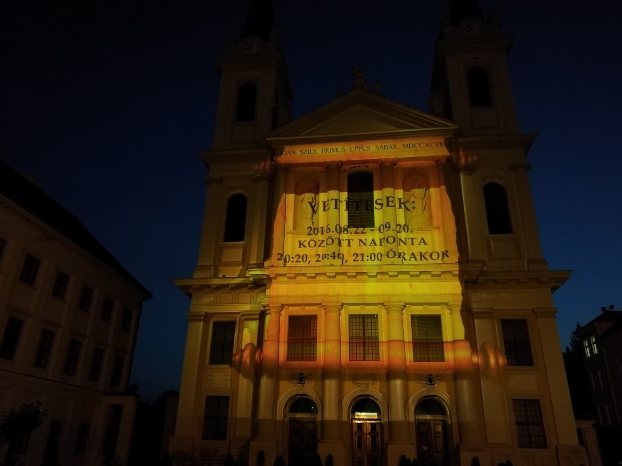 Nigthpicture Church Szombathely
