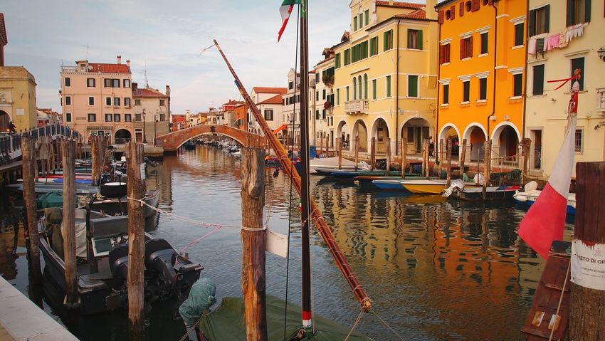 Canal Outdoors Building Exterior Water Architecture Day Italy Veneto Chioggia Tranquil Scene Boats Canal Colors Colorful Wood Placid  Takeyourtime Norush Stillness EyeEm Gallery Eyeemphotography Italianstyle The Architect - 2017 EyeEm Awards