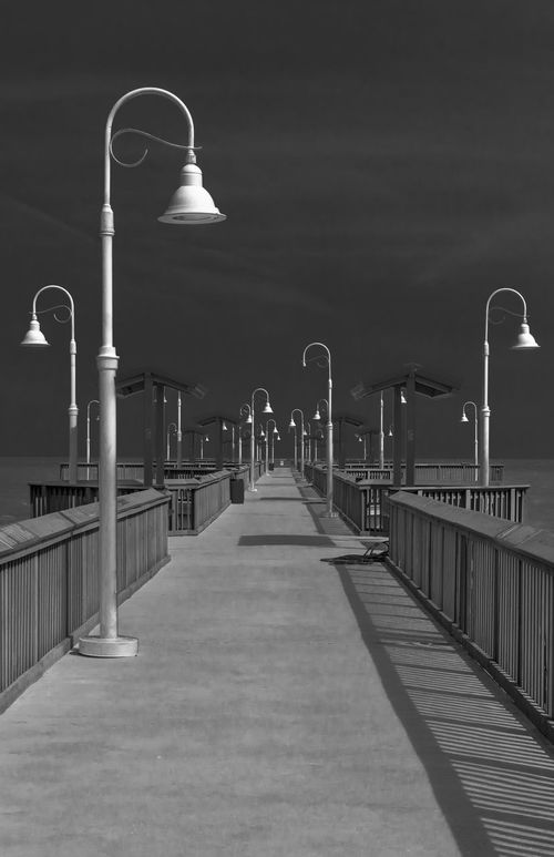 Architecture Assymetry Bay St. Louis, MS Black And White Diminishing Perspective Mississippimud Monochrome Pier