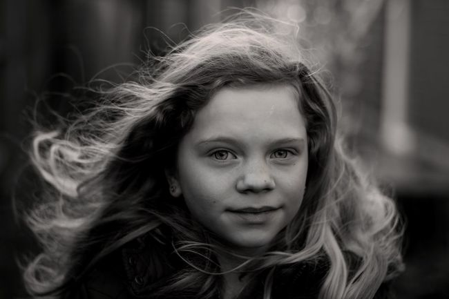 Macey in the breeze The Portraitist - 2014 EyeEm Awards