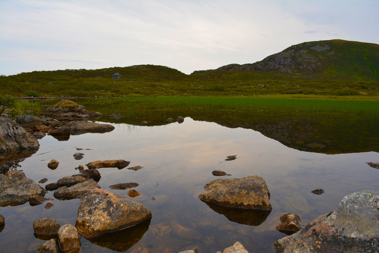 Norge Beauty In Nature Day Lake Landscape Nature No People Norge Norway Outdoors Reflection Scenics Sky Tranquil Scene Water