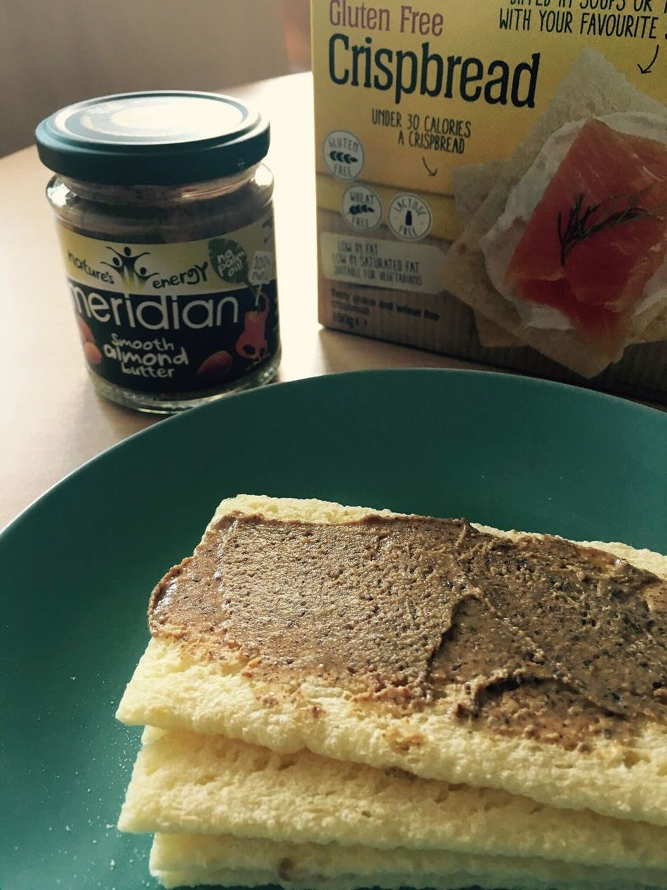 My Favorite Breakfast Moment Crackers Gluten Free Tasty Breakfast My Morning Favorite Favourite Wheat Almond Almond Butter Crispbread  Calories Butter