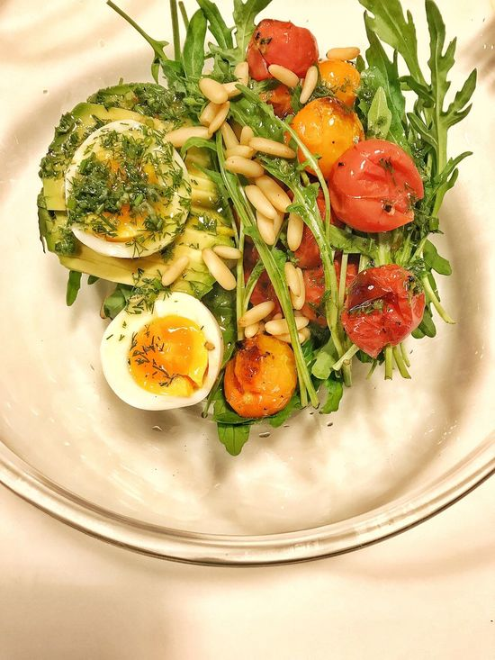 Xuan's Special Salad. She is a very excellent Chef in Suzhou of China . Plate Food Food And Drink Healthy Eating Freshness Egg Vegetable Ready-to-eat Indoors  No People Close-up Fried Egg Egg Yolk Day