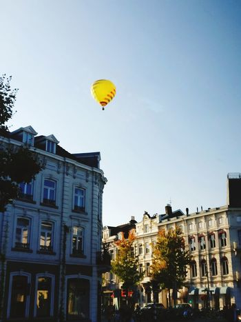 Architecture Hot Air Balloon Balloon Mid-air Vacations Flying Building Exterior Outdoors Tree No People City Sky Day Travel Destinations Built Structure Autumn Maastricht Holland Maastricht Netherlands