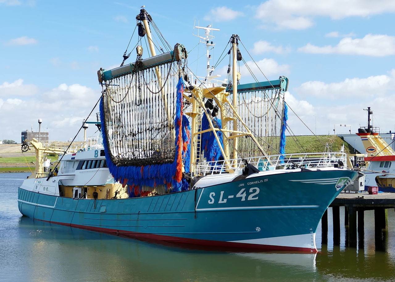 nautical vessel, transportation, mode of transport, moored, boat, sky, water, day, sea, harbor, no people, outdoors, blue, nature, mast