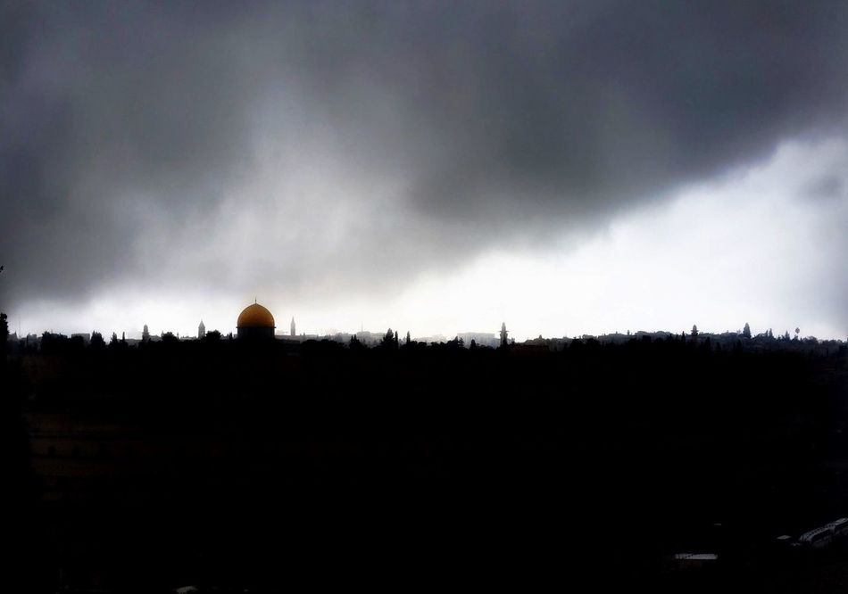 Jerusalem's Old City Skyline through a sand storm Check This Out Taking Photos Jerusalem Israel Skyline Storm Travelling Travel Photography Landscape Silhouette Discover Your City