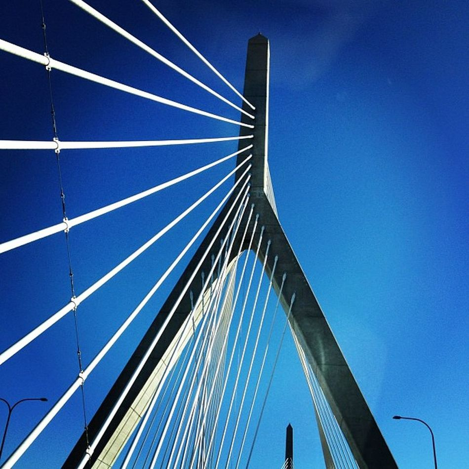 She makes #Boston pretty. #bridge Architecture Bridge Highway Travel Road Suspended Boston Landmark Beantown Massachusetts Bigdig