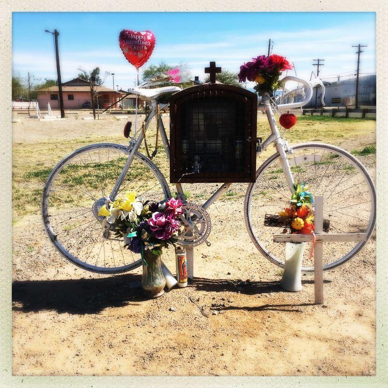 Ghost Bike of Tucson on 1st Avenue. Bike Ghost Bike Hello World Takingphotos Check This Out Memories ❤ Tucson Arizona