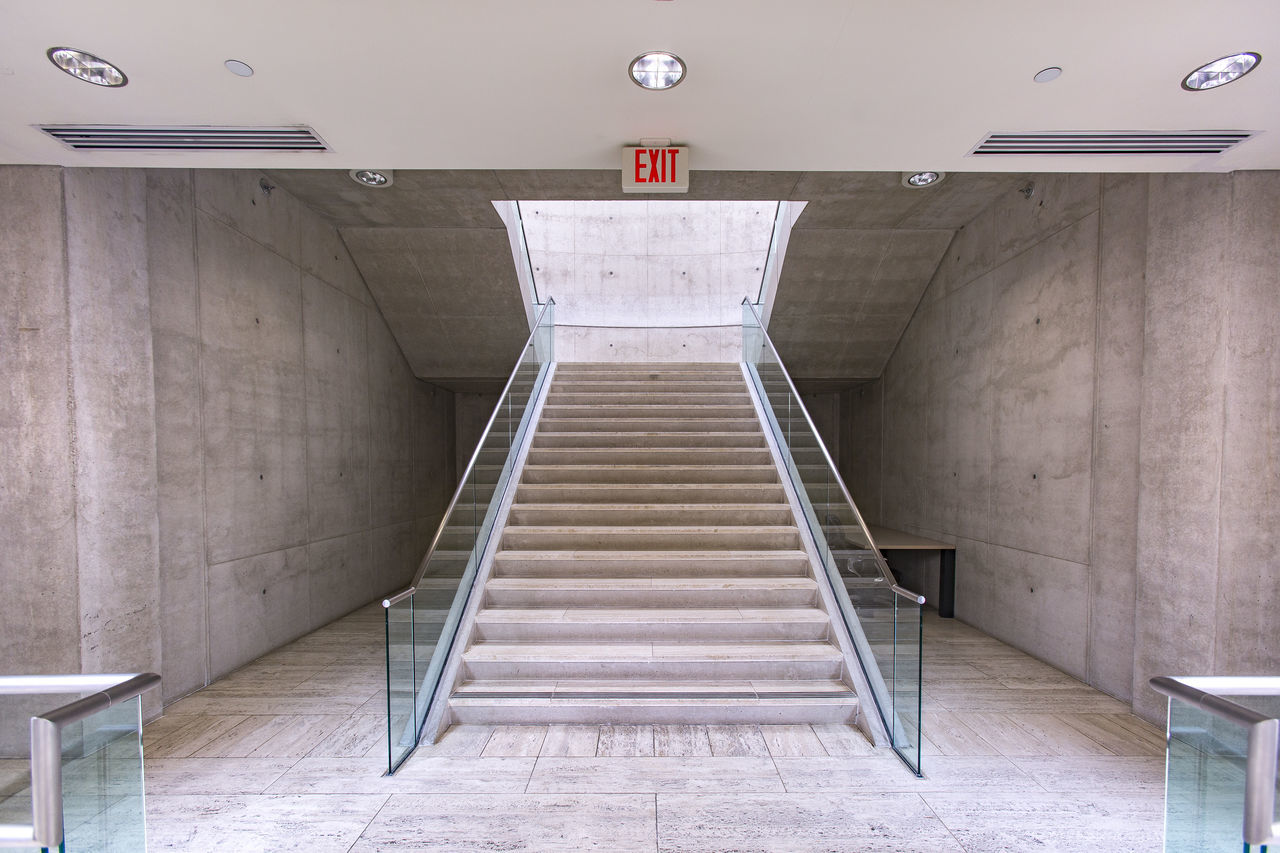 Architecture Built Structure Cali California Day Education Hand Rail Indoors  No People Salk Institute  Southern California Staircase Steps Steps And Staircases