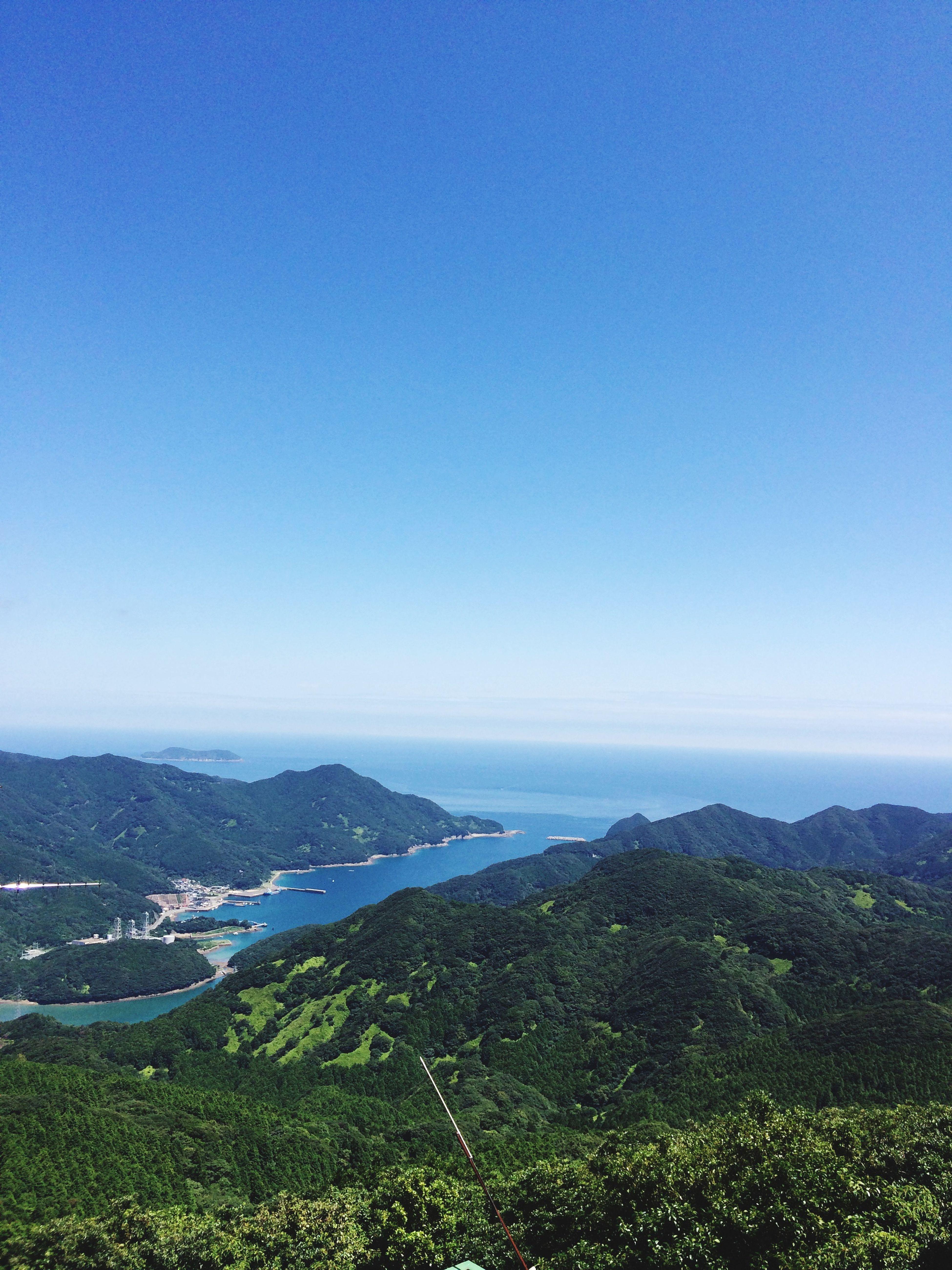 海も山も空もきれい‼️