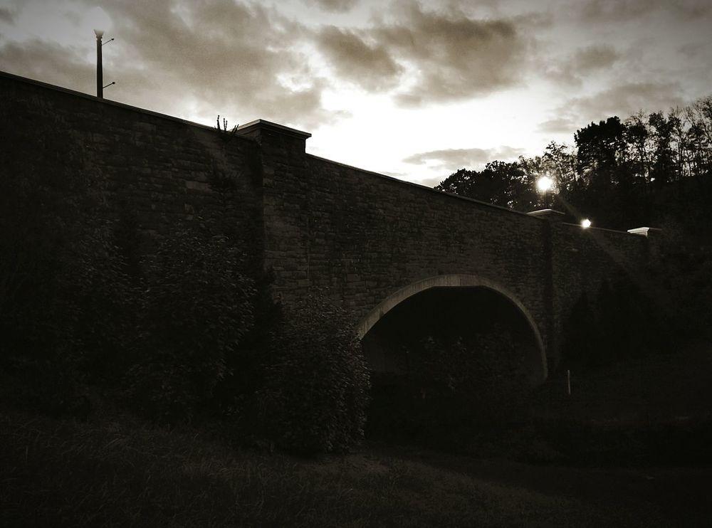 Stone Bridge Twilight Sky Outdoors Natutre Stonework