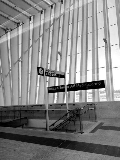 Stazione StazionereggioemiliaAV Blackandwhite Photography