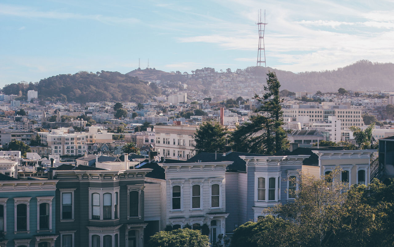 Architecture California City Cityscape Day Outdoors San Francisco Sky Tower Twin Peaks Twin Peaks Viewpoint Urban Skyline Victorian Victorian Architecture Victorian House