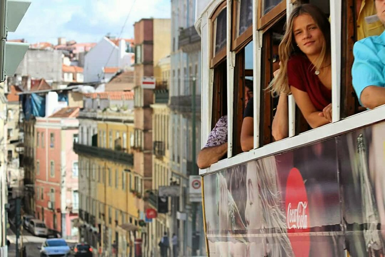 City Day Famous Place Picoftheday Travel Destinations Panoramic ViewWindow Tourism City Life Portugal_lovers Portrait Photography Life Is Good Coca~Cola ® Street Fashion Photostreet Public Transportation Tramstation Only Women People One Person City Italianeography Travel Transportation Fragolaemorango