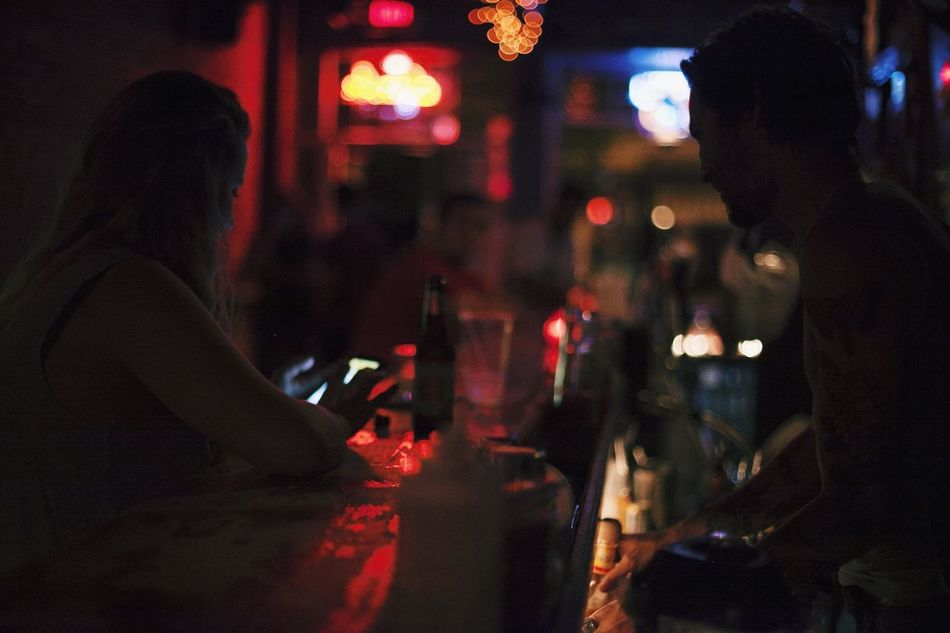 Beautiful stock photos of bar, Bar - Drink Establishment, Bar Counter, Dark, Illuminated