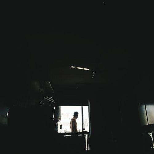 Man Window Views Taking Photos