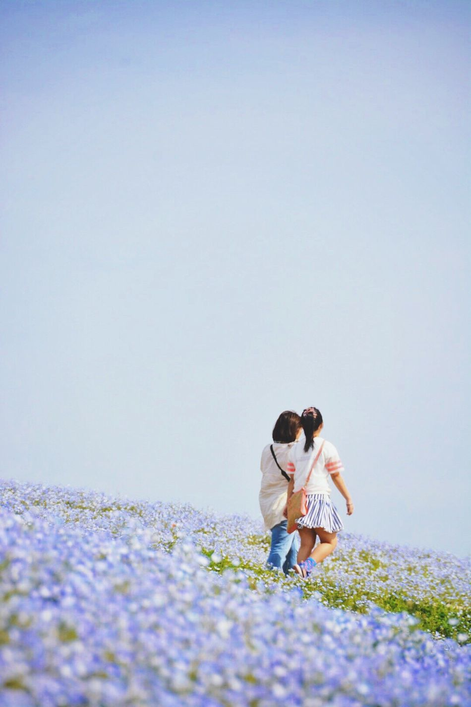 Beautiful stock photos of mother's day, Bonding, Casual Clothing, Clear Sky, Copy Space