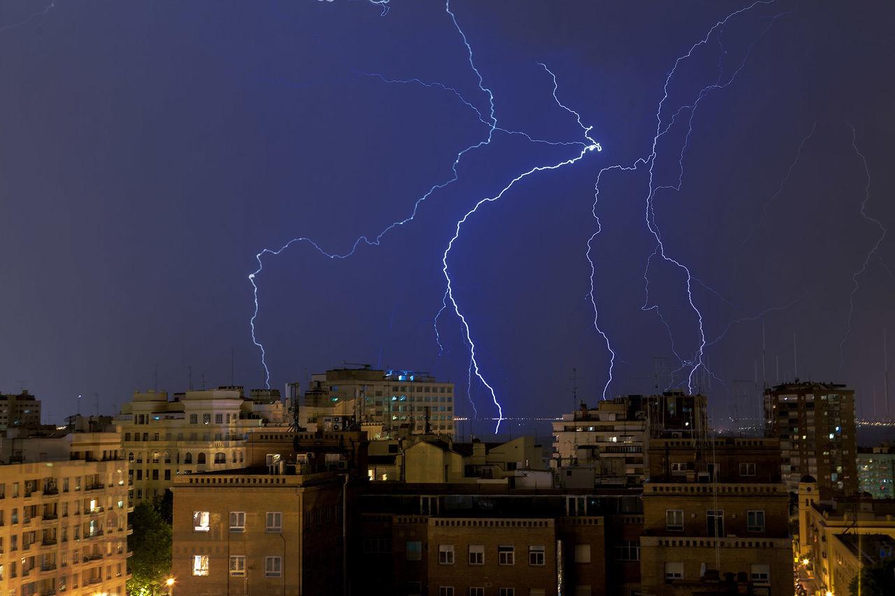 Beautiful stock photos of lightning, Architecture, Atmospheric Mood, Building Exterior, Built Structure