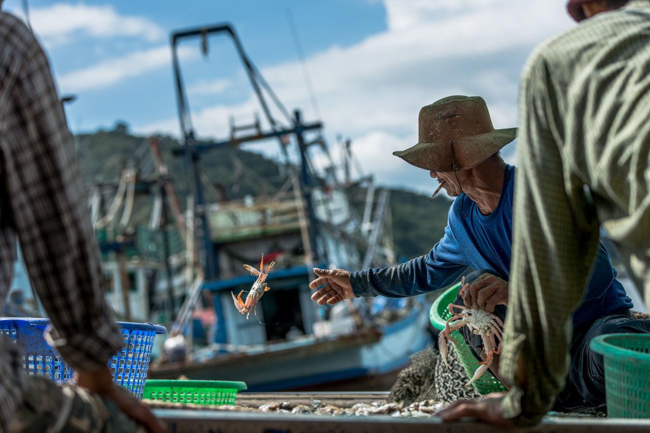 Everyday Lives fisherman shot Life Streetphotography Fisherman Chanthaburi Thailand