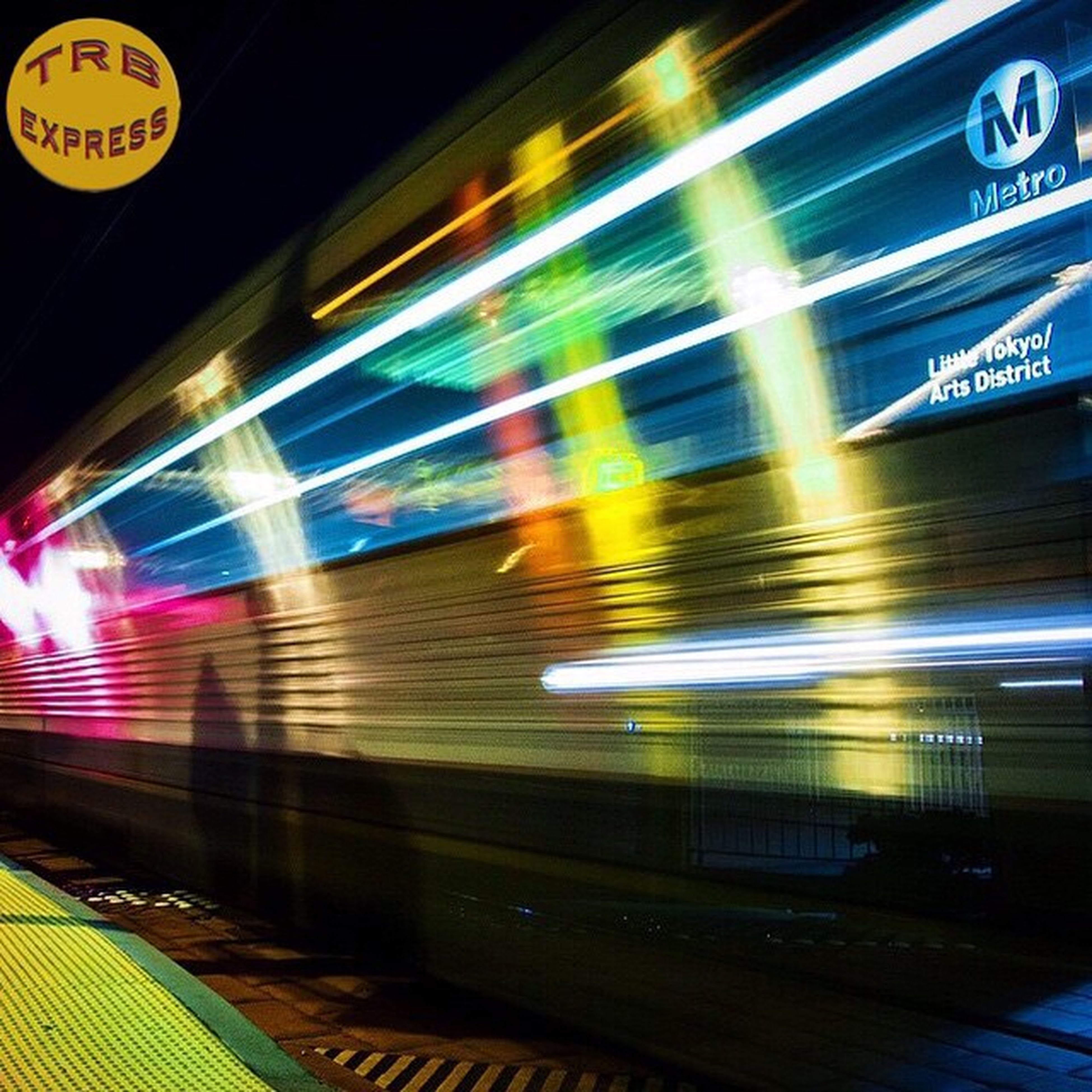 illuminated, night, transportation, long exposure, text, speed, blurred motion, light trail, motion, multi colored, western script, communication, road, city, information sign, street, red, mode of transport, guidance, built structure