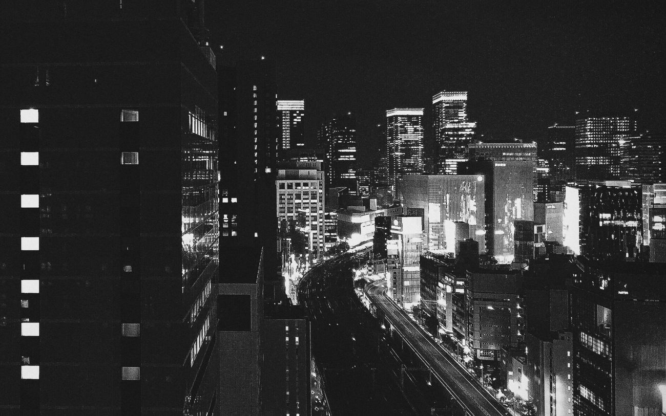 Fortheloveofblackandwhite Blackandwhite Photography Blackandwhite Check This Out Enjoying The View Night Lights City Lights Tokyo Night Photography Night View