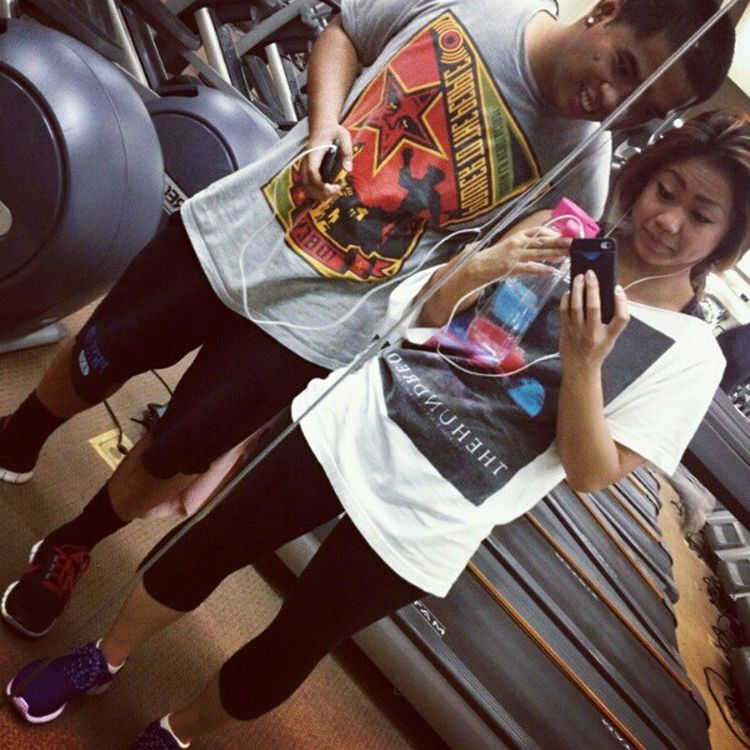 We decided to take a pic after a gym sesh with @itsjessaaaa Gym Bestfriend Motivated Getitdone nike swoosh