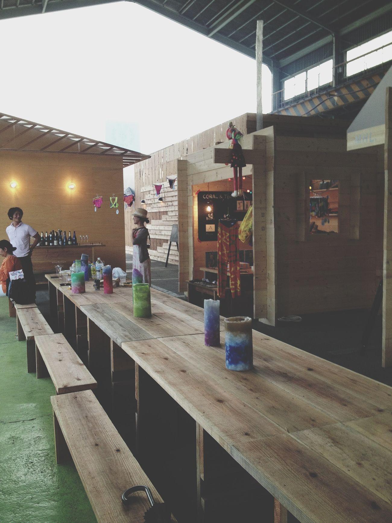 熊谷のnew landきた!倉庫跡地の小さいマーケット。