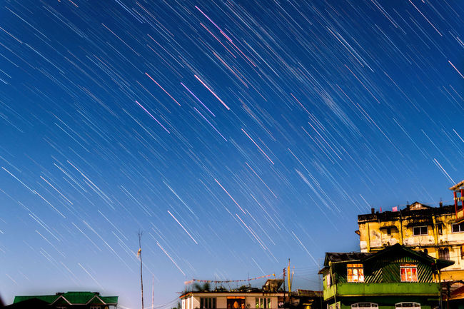 LightRain Night Sky Star - Space Astronomy Space And Astronomy Space Star Trail City No People Motion Outdoors Star Field Landscape Beauty In Nature Scenics Constellation Nikon D5500 Star Wars Mammal Star Trails
