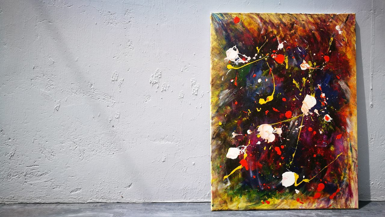 Multi Colored Flower No People Day Close-up Built Structure Outdoors Fragility Nature Art Acrylic Painting Painting Paint White Background Textured