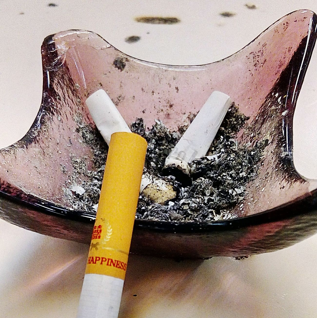 Happiness Cigarette  Smoke Ashtray  Ashes Drink