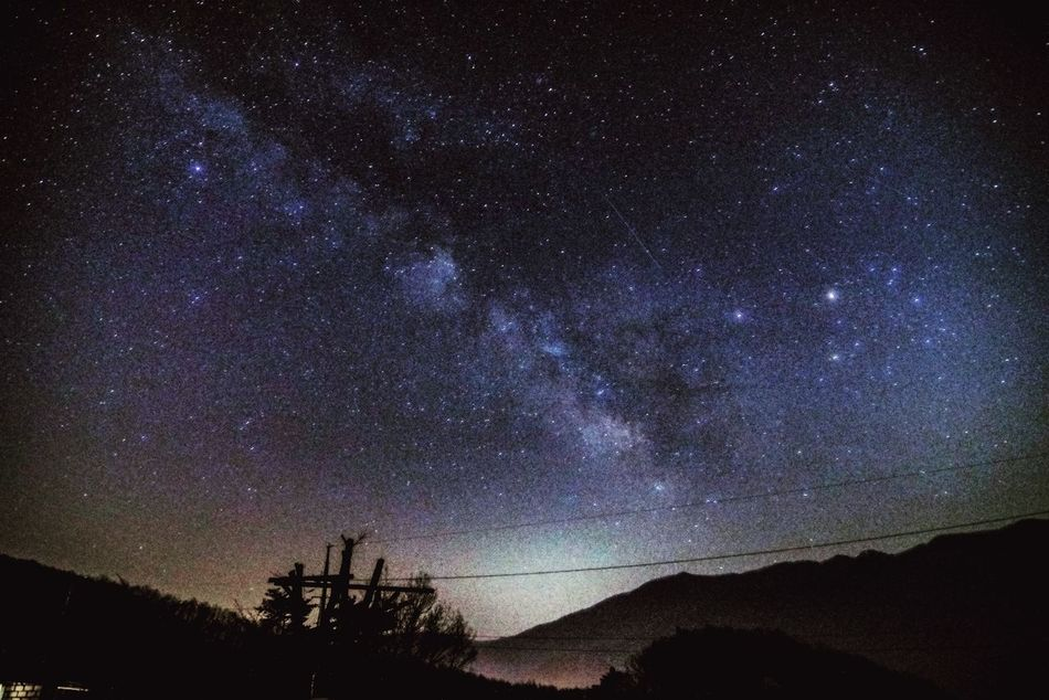 Astronomy Beauty In Nature Constellation Galaxy Landscape Low Angle View Milky Way Nature Night No People Outdoors Scenics Sky Space Space And Astronomy Star - Space Tranquil Scene Tranquility Tree